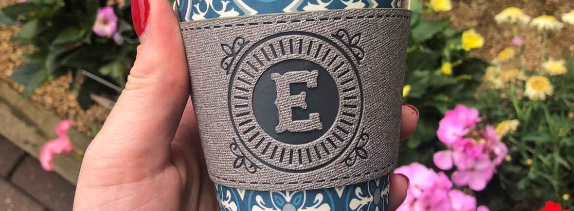 Emily Portable Mug Arthritis Foodie, Bamboo Mug, Flowers