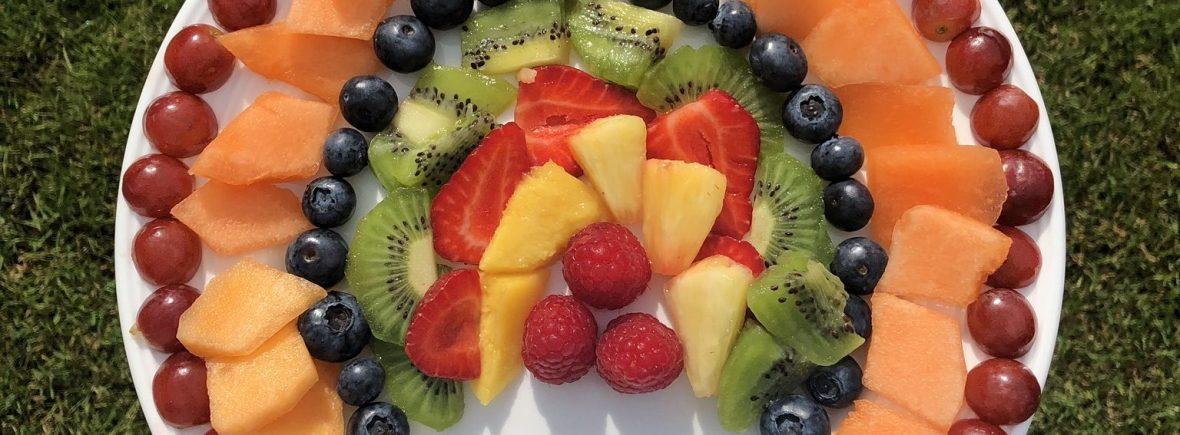 Rainbow Fruit, Kiwi, Grapes, Blueberries, Melon, Pineapple, Mango, Raspberries, Strawberries, rainbows, arthritis foodie, healthy eating for arthritis, foods to eat with arthritis, Pride London 2019,